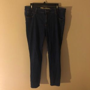 Mid Rise Skinny Jeans- Long